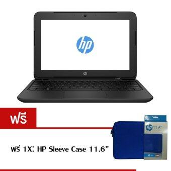 "HP Notebook 11-f001TU C.N2840 2GB 500GB 11.6"" Dos (Black) ฟรี 1X HP Sleeve Case"