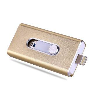 i-Flashdrive OTG USB Flash Drive For iphone 6/6s/5/5s ipad 64gb Pen Drive Usb Flash (Gold) - intl