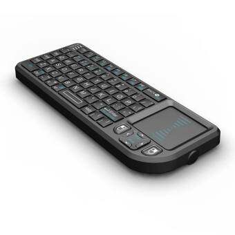 I-Smart ภาษาไทย / English mini keyboard 2.4g air mouse รุ่น X1 (black)