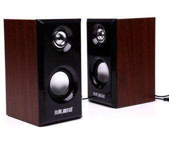 I-Smart JiTeng Wooden 3D Hi-Fi Speaker ลำโพงคอมพิวเตอร์ รุ่น JT04 (Brown)