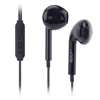 ราคา หูฟังไอโฟน หูฟัง in ear Golf M1 Delightful Stereo Earphones หูฟัง Small talk headset รุ่น M1 สำหรับ Iphone/Ipad and Android (สีดำ)