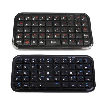แป้นพิมพ์แบบไร้สายบลูทูธสำหรับ iPhone 4G 4S PS3 พีซี iPad 2 3 สีดำ - Intl