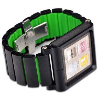 iPod Nano 6 Watch Band (Black/Green) - intl