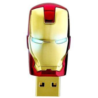แฟลชไดร์ฟ รุ่น Iron Man USB 2.0 Flash Memory Drive Stick Pen Thumb U Disk 16GB (สีทอง)