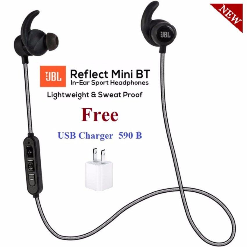 JBL Reflect Mini Bluetooth In-Ear Sport Headphones หูฟังบลูทูธ/สวย/เสียงดี/เหมาะสำหรับออกกำลังกาย จาก JBL ของแท้รับประกันศูนย์ไทย แถมฟรี USB Charger มูลค่า 590 บาท image