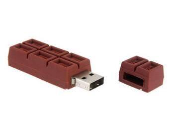 jingot 4GB Chocolate Bar Shape Plastic USB Flash Drive,Coffee
