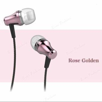 2561 Joyroom E110 In Ear Earphone 3.5MM Stereo In Ear Headset Dynamic Earphones Bass Metal Earphone for Android and IOS หูฟัง in-ear+ไมค์โครโฟน (Rose gold)
