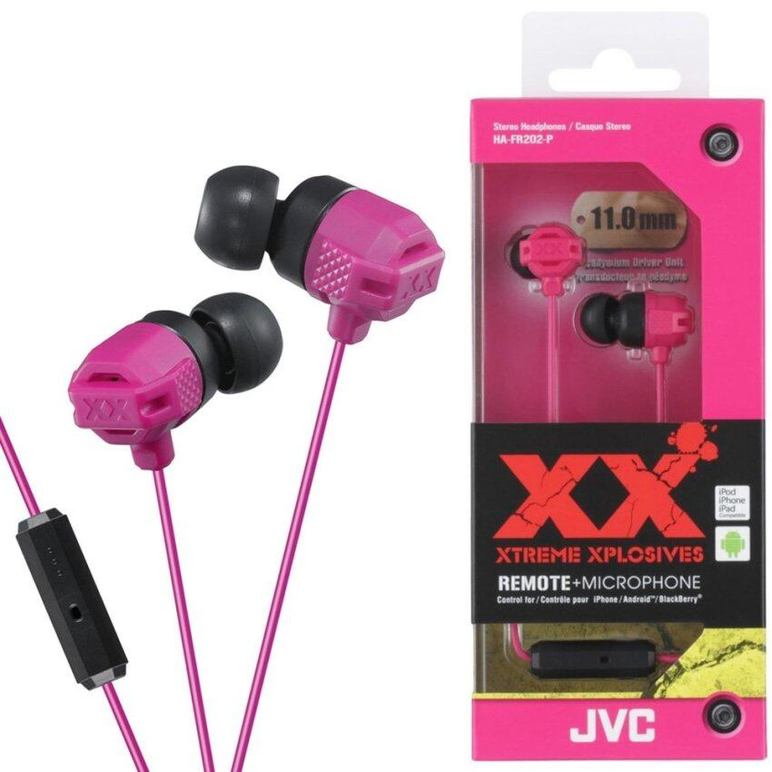JVC HA-FR202 XTREME XPLOSIVES Inner Ear Headphones with Remote & Mic (Blue / Black / Red / Pink / Violet) - intl