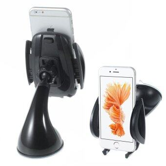 K5 Universal Car Desktop Mount Holder for iPhone 6s Plus Samsung Galaxy Note5, Width: 5.3-10.5cm - Black