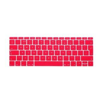 Keyboard protector 12 Inch for Apple Mac-book Air / Mac-book Pro European Version (Pink)