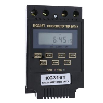KG316T Microcomputer Programmable Electronic Time Switch Relay Controller(Black)-110v - intl