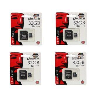 Kingston Memory Card คิงส์ตัน เมมโมรี่การ์ด Micro SD (SDHC) 32 GB Class 10 (4 อัน)