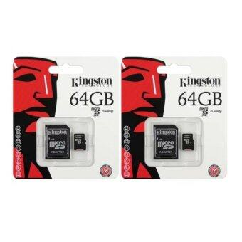 Kingston Technology Memory Card เมมโมรี่การ์ด Micro SD (SDHC) Class 10 64 GB (2 ชิ้น)