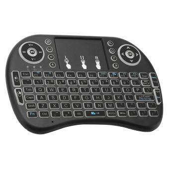 Kitbon i8 Backlit Mini Wireless Keyboard Touchpad - Black - intl