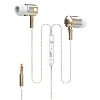 Langsdom I-1 Braid Metal In-Ear Earphones Compatible With All 3.5MM Mobile Phone (Gold) - intl