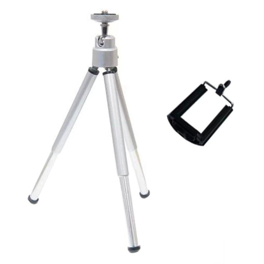 lanyasy Cell Phone Mini Tripod Stand Cell Phone Holder(Silver) ...