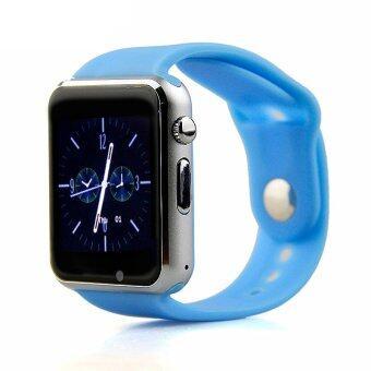 2561 LNW กล้องนาฬิกาบูลทูธ ใส่ซิมได้ Bluetooth Smart Watch SIM Card Camera รุ่น T8 (สีฟ้า)