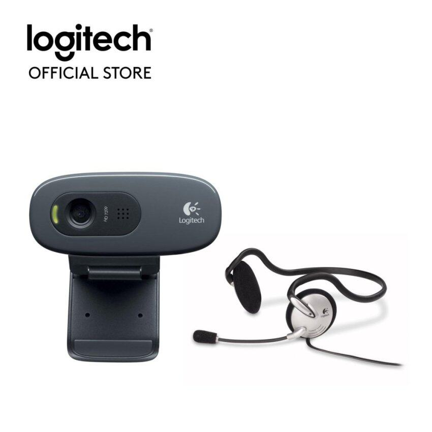 Logitech HD Webcam C270h + Stereo Headset - FE
