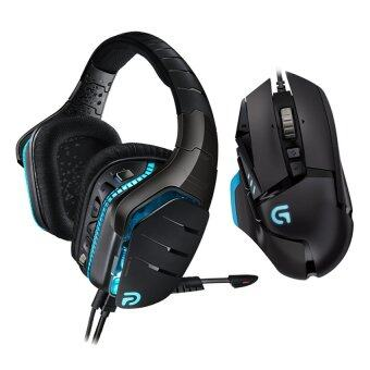 Logitech Wired Gaming Headset G633 + Logitech Turnable Gaming Mouse G502