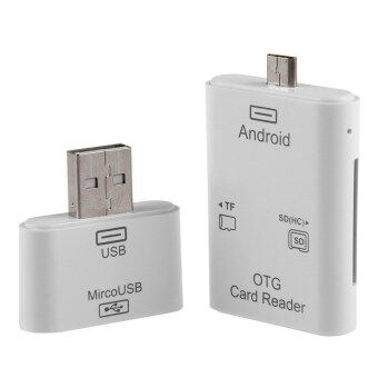 Lucky OEM 2in1 Micro USB & USB SD TF OTG Card Reader Kit For Samsung S4 S6 Note 4 HTC PC - intl