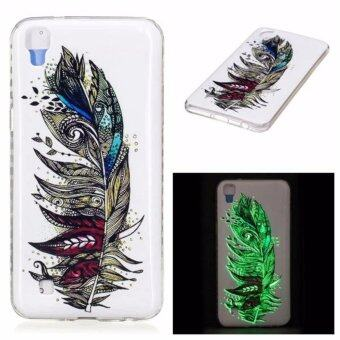 Luminous Glow Back TPU Gel Cover for LG X Power K220 LS755 - Colorized Feather - intl