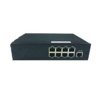 Mastersat CCTV POE Switch for NVR 9 Ports สำหรับกล้อง IP Camera 8 จุด ระบบไฟ 12V. ใช้ได้ไกล 30 เมตร