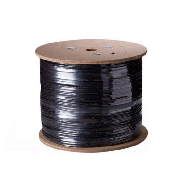 Mastersat สาย RG6 พร้อมสายไฟ สำหรับกล้องวงจรปิด CCTV Cable for AHD Analog ยาว 305 เมตร (สีดำ)