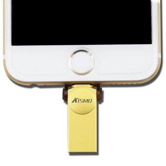Micro Dirve Metallo Memory Stick Mobile USB Per IPhone 6/6 S or Ipad Flash Drive 64 GB (Gold) - intl