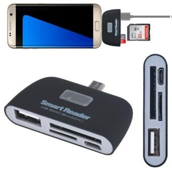 Micro USB 3 in 1 Memory Card Reader Adapter USB/TF/SD for SamsungGalaxy S7Edge - intl