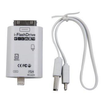 Micro USB i-Flash Drive TF SD Memory Card Reader for iPad iPhone 5S/6 6Plus