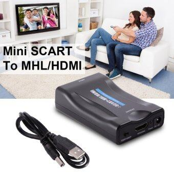 2561 Mini PAL NTSC SCART to HDMI 1080P 60Hz HD Video Converter Scaler Box with USB Cable for HDTV