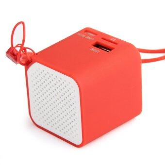 Mini Universal PC Wireless Bluetooth Speaker SCI Mic for iPhone Samsung Tablet(Red)