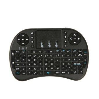 Mini Wireless Keyboard 2.4GHz Remote Control Touchpad Mouse Keyboard (Black)