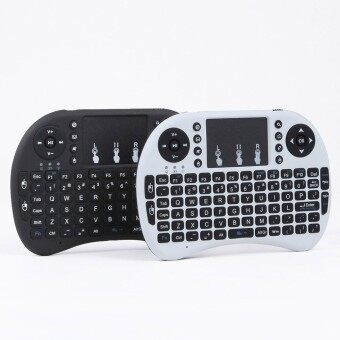 Mini Wireless Keyboard 2.4GHz Remote Control Touchpad Mouse Keyboard (White)
