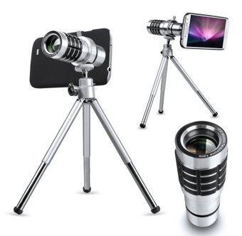 Mondpalast ชุด Kit เลนส์ซูม Telephoto Lens 12X + ขาตั้ง + กระเป๋าใส่เคส สำหรับ Samsung Galaxy S6 , s6