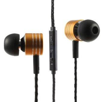 Mosidun M3 3.5mm In-Ear Earbud Earphone with Mic anf Remote for iPhone iPad Samsung HTC MP3 MP4 (Gold)