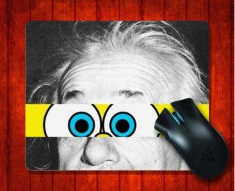 MousePad Albert Einstein & SpongeBob for Mouse mat 240*200*3mm Gaming Mice Pad - intl