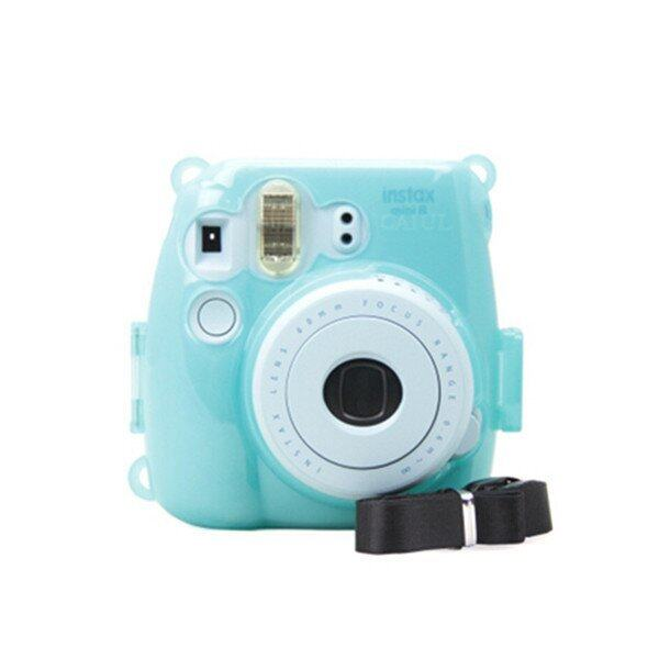 Mulba Crystal Instant Camera Case For Fujifilm Instax Mini 8 Transparent Blue ...