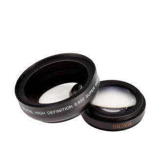 New 37mm 2 in 1 Tailored Camera Lens Macro and 0.45X Wide Angle with Protective Case For iphone 5S - intl