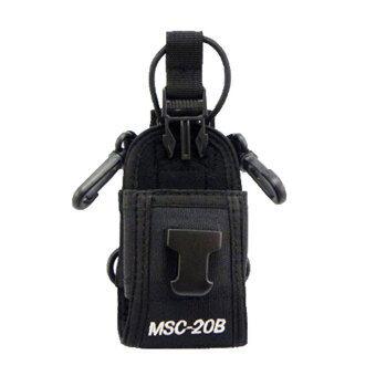 niceEshop ซองเคสกระเป๋ากระเป๋าสำหรับจีพีเอส PMR446 Walkie Talkie ส่งวิทยุ (สีดำ)