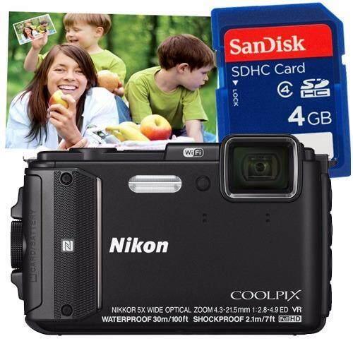 ด่วนNikon Coolpix AW130 - สีดำ + การ์ด SD 4 GB มูลค่า200บาท+คูปองขยายภาพขนาด16