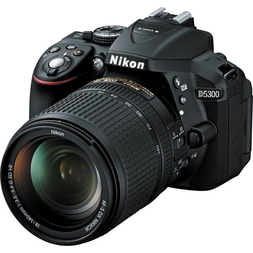 Nikon D5300 DSLR Camera 24.2 mp Kit 18-140mm (Black) ...