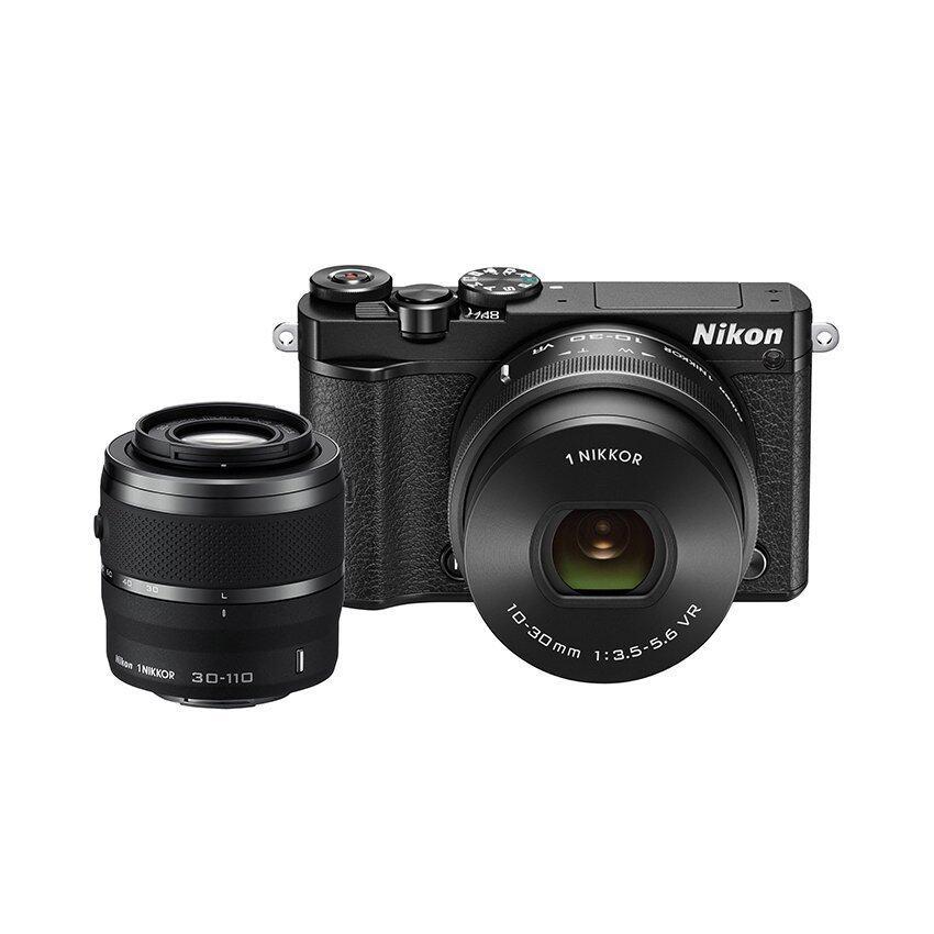 Nikon กล้องดิจิทัล รุ่น Nikon 1 J5 Mirrorless พร้อมเลนส์ 10-30mm + 30-110mm (สีดำ)