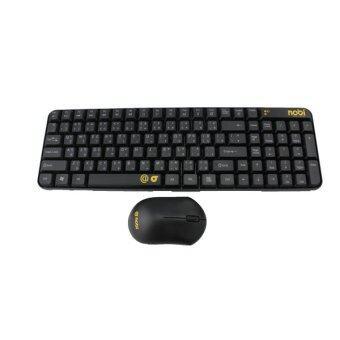 Nobi Wireless 2.4G Combo Keyboard + Mouse ชุดคีย์บอร์ด และ เมาส์ไร้สาย (สีดำ)
