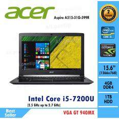 Notebook  Acer  Aspire A515-51G-599R  (Black)