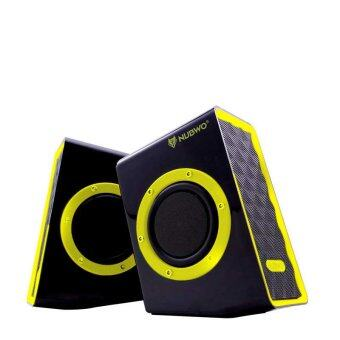 NUBWO Acoustica Extra Bass ลำโพง USB รุ่น NS-001 - สีเหลือง