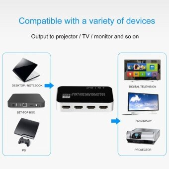 OH 5 Port 4Kx2K 4 in 1 out V2.0 4x1 HDMI Splitter Converter HDMI Switch Switcher EU Plug - intl