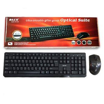 OKER keyboard+mouse USB รุ่น KM 3189 (สีดำ)