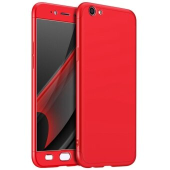 OPPO R9S Plus case , Mooncase Frosted Armor Hard PC Back Cover 360Full Body Shockproof Protective with 3 Detachable Parts Phone Case(As Shown) - intl