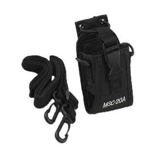 ounjea Pouch Bag Holster Case For GPS PMR446 Radio Transceiver Walkie Talkie(Black)
